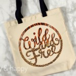 Cricut Infusible Ink Wild & Free Tote Bag