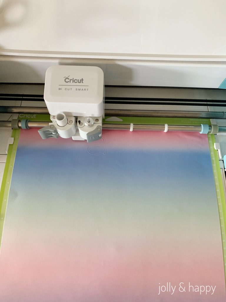 Cutting the Cricut Infusible Ink transfer sheet