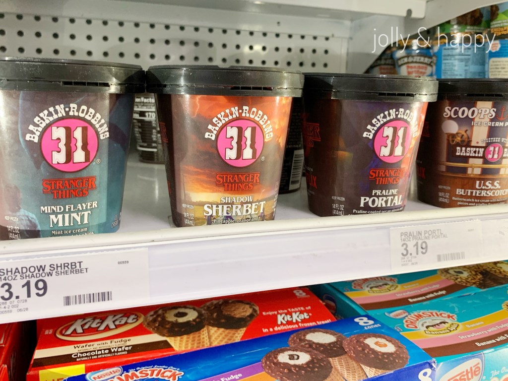 Baskin Robbins stranger things ice cream at target