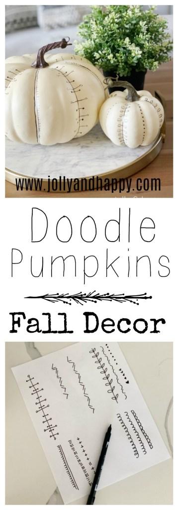 doodle pumpkins fall decor