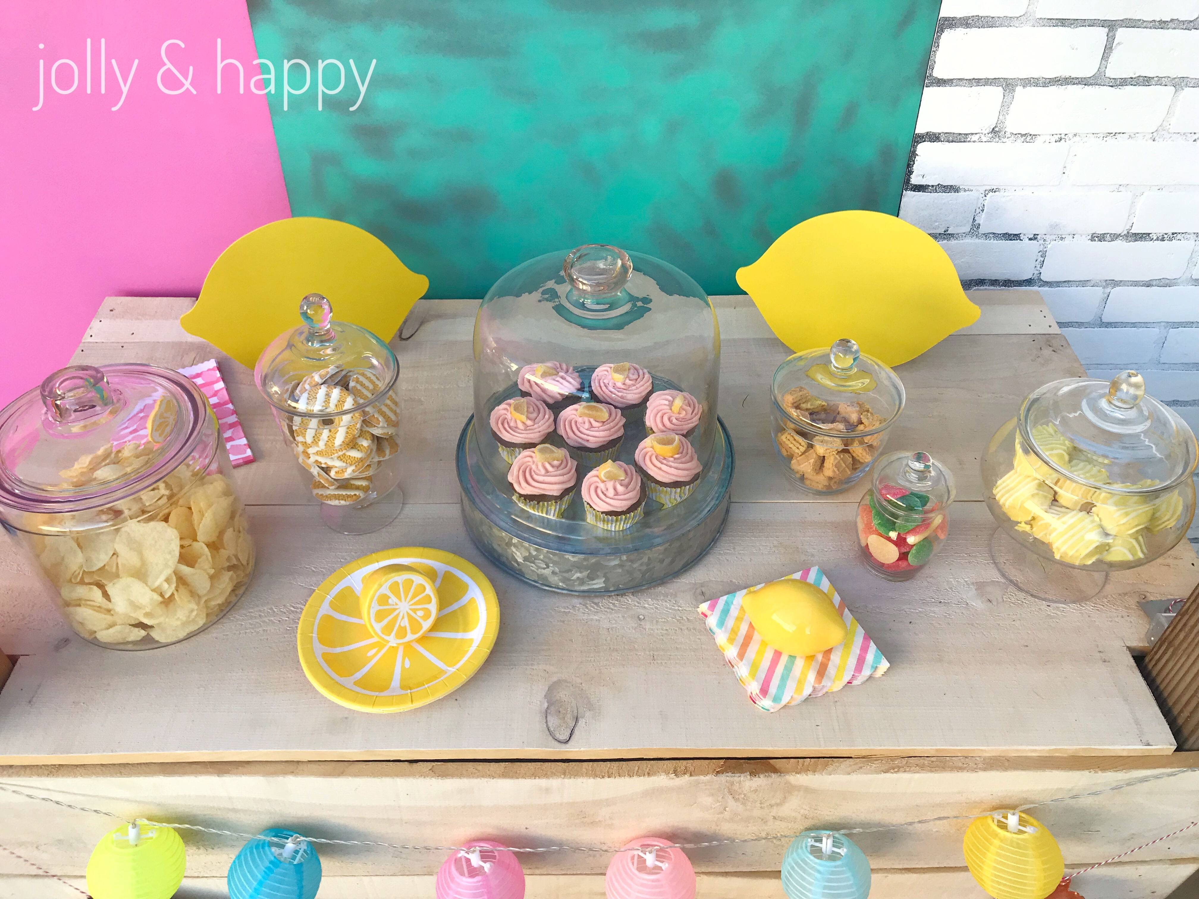lemonade birthday party treats