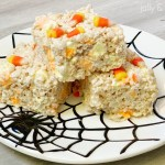 Boo-ing Your Neighbors and Candy Corn Rice Krispie Treats