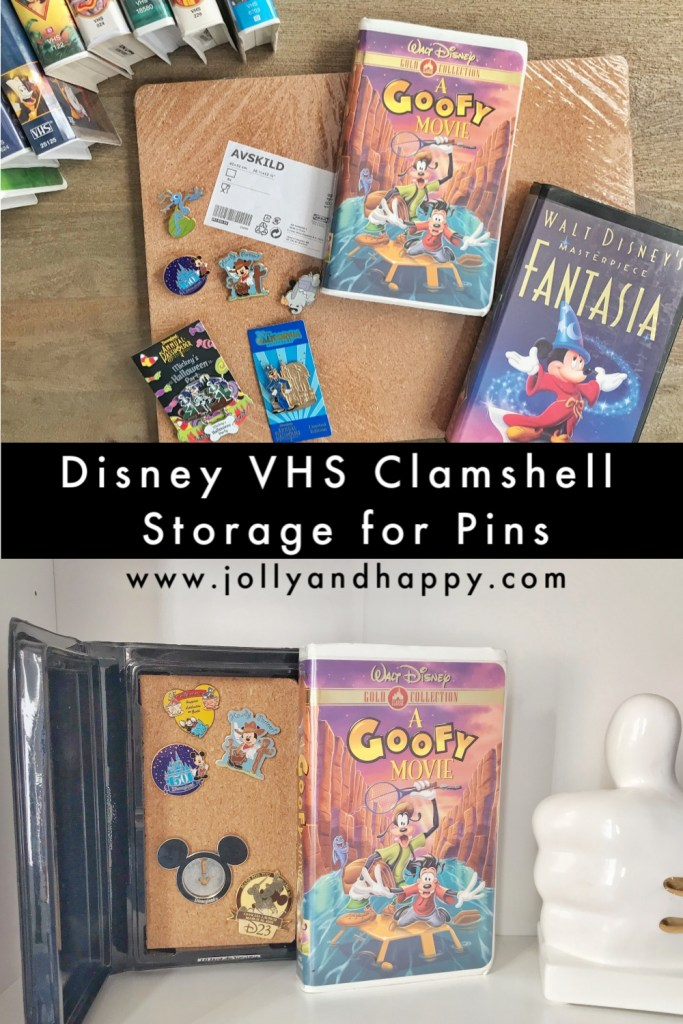 Disney VHS Clamshell Storage for Pins