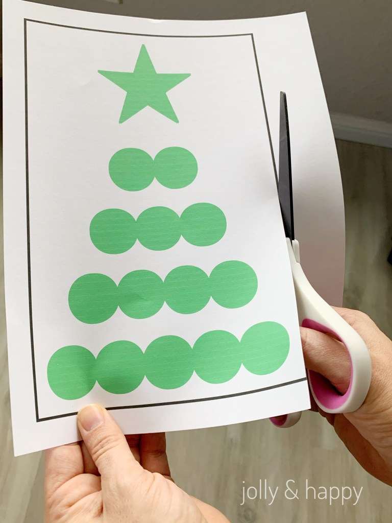 Cricut printed tree for custom Christmas scratch off