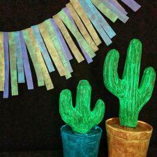 Glow in the Dark Cinco De Mayo Party Decor with DecoArt Glow