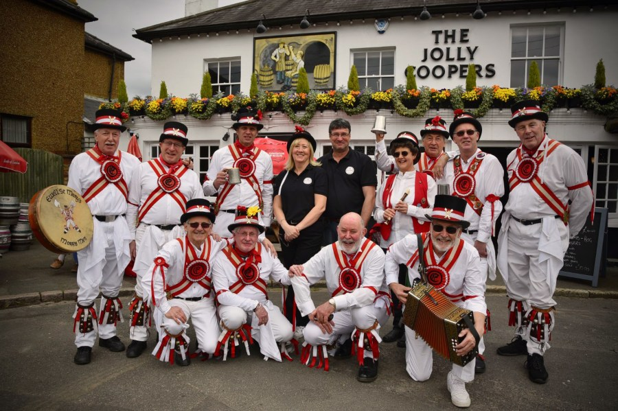 Morris men at The Fuzzchat Brewery lauch weekend