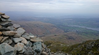 Looking down on Coniston from the Old Man