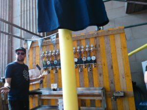 Todd hard at work at the Kiwi bar