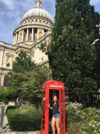 Telephone box ft St. Paul's Cathedral