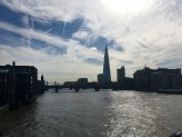 View of the Shard from Millennium Bridge