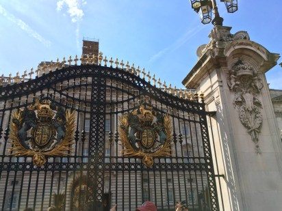 Gates in front of Buckingham Palace