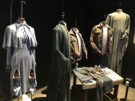 Beauxbatons uniform on the left (4th movie), costume Harry wore in the battle of Hogwarts (8th movie)