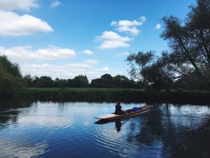 Punt turned canoe