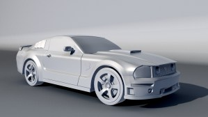 Ford Mustang 3ds Max model