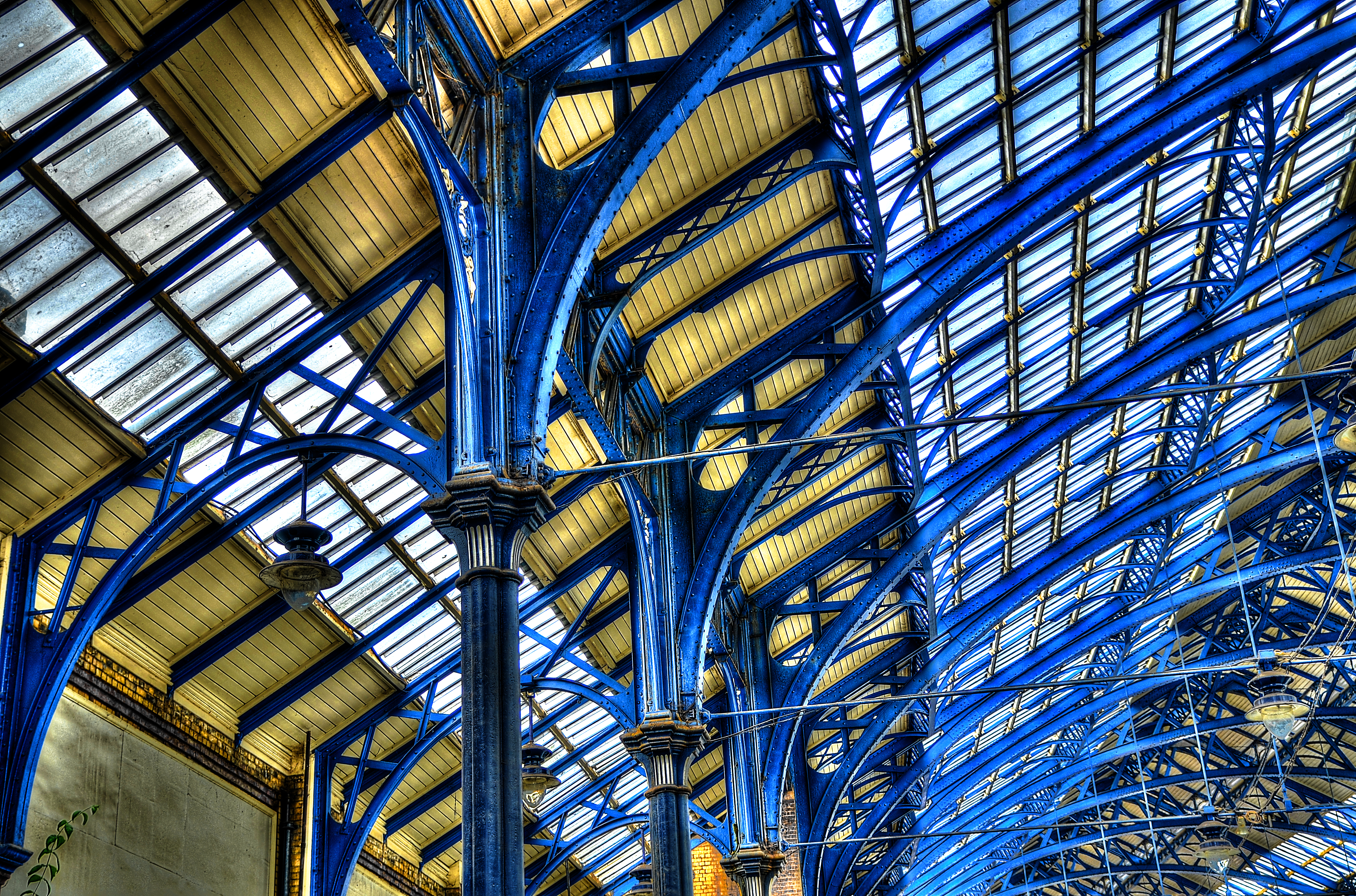 Brighton Railway Station roof HDR