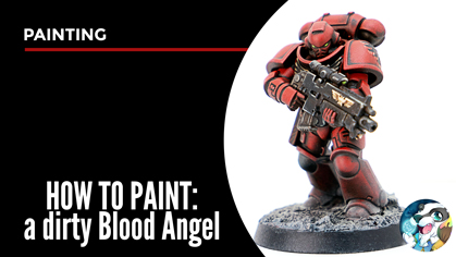 How to paint a Blood Angel intercessor space marine