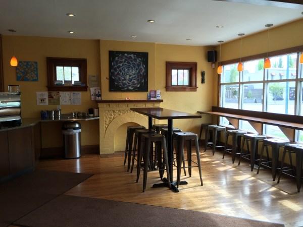 Small quaint coffeehouse.