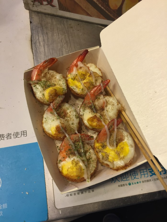 Quail egg takoyaki.