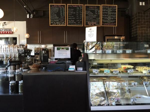 Velvet Cafe front counter.