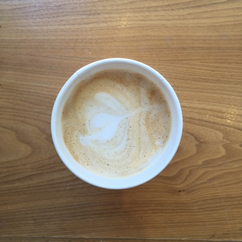 Soy latte at Cafe Blanca.