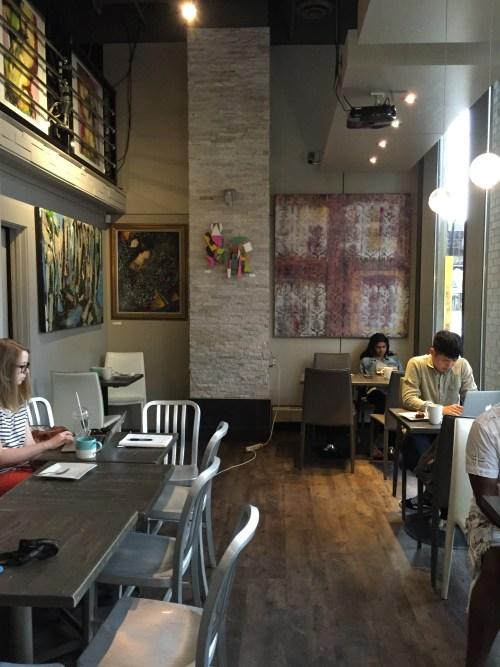 Small and narrow cafe at Kawa.