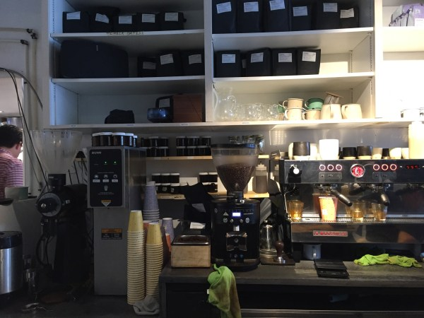 Barista front counter.