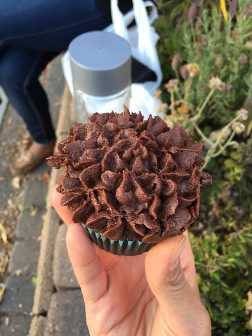 Vegan & gluten-free cupcake from Entrees Etc.