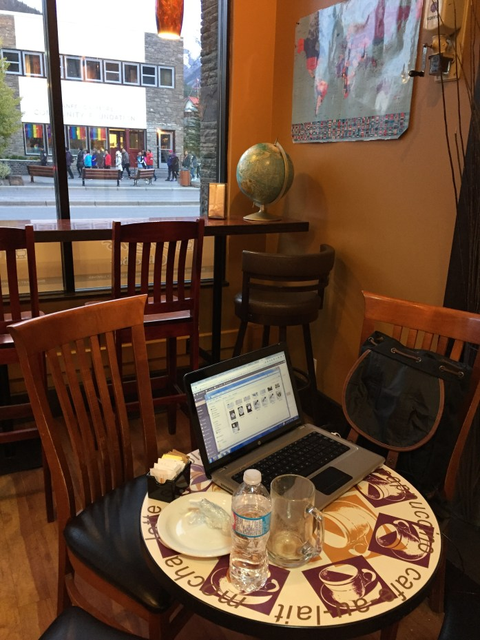 My workstation @ Evelyn's.