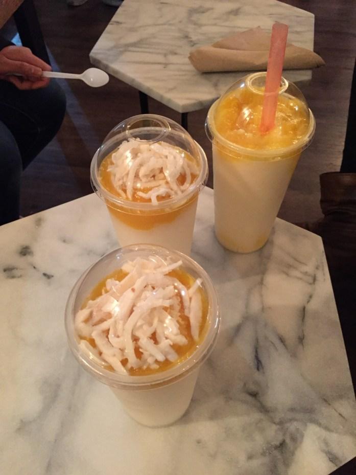Even more mango & coconut drinks! Yum!