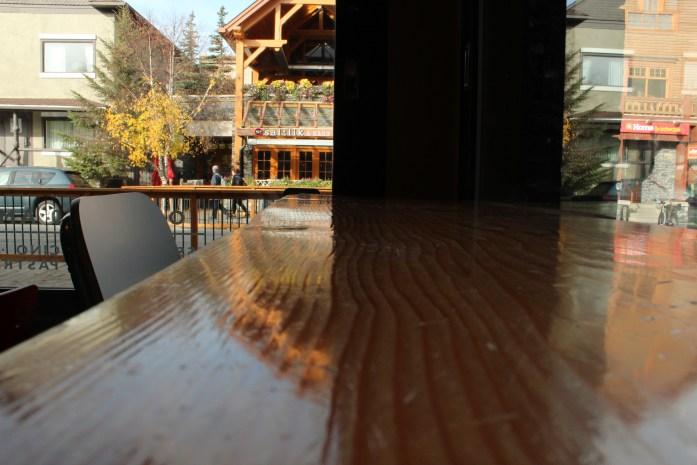 Banff National Perk coffee shop.