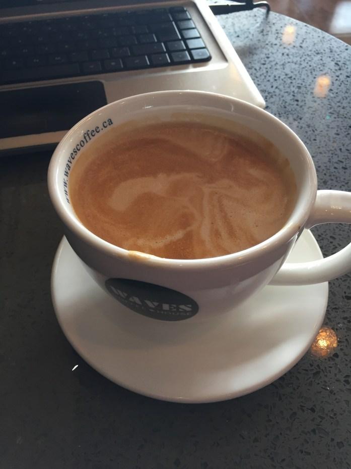 Almond latte @ Waves.