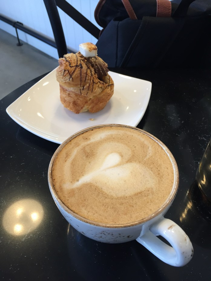 Soy latte and cruffin. Yum!