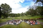 Wide view of Rolling Hills wedding