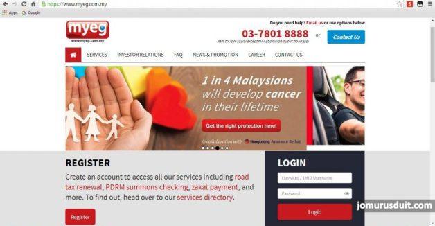 renew road tax insurans kereta online myeg