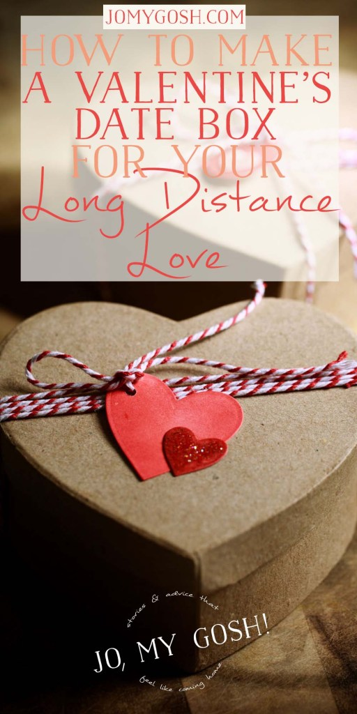 Create a Valentine's dinner date box to send to your long distance love when you can't be together for the holiday.