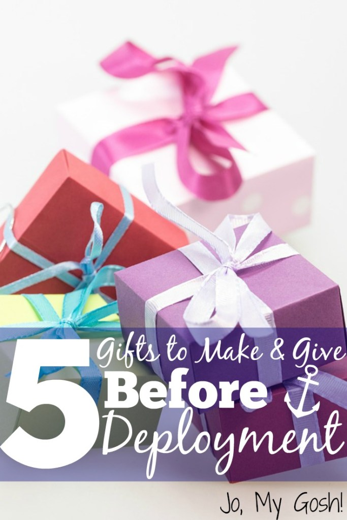 5 great gift ideas that you can make for a loved one going on deployment-- affordable and meaningful.