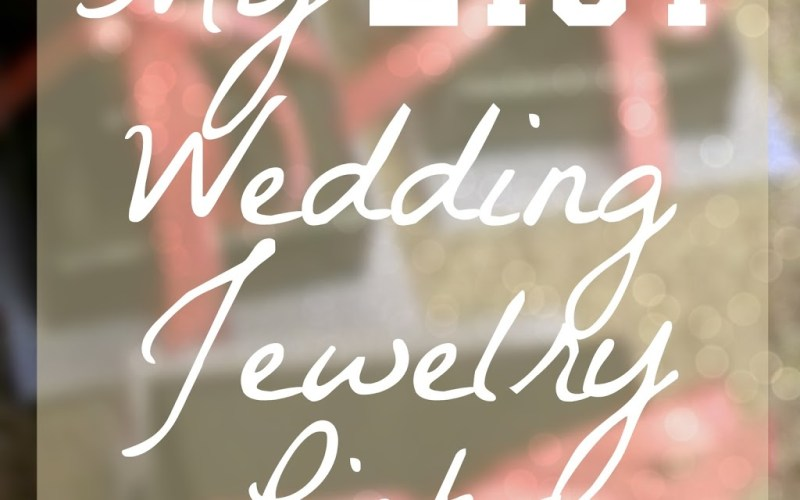 My Etsy Wedding Jewelry Picks