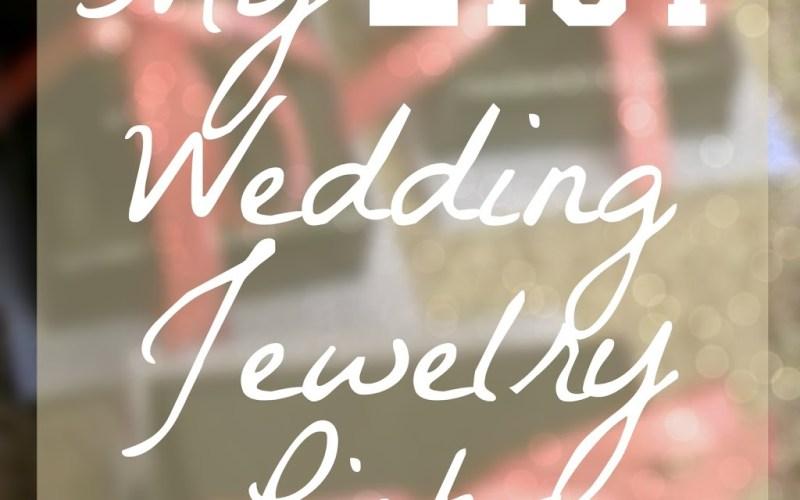 My Etsy Wedding Jewelry Picks