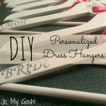 DIY Personalized Bridesmaids Dress Hangers