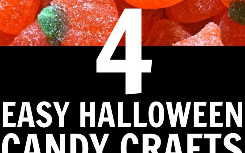 4 Easy Halloween Candy Crafts
