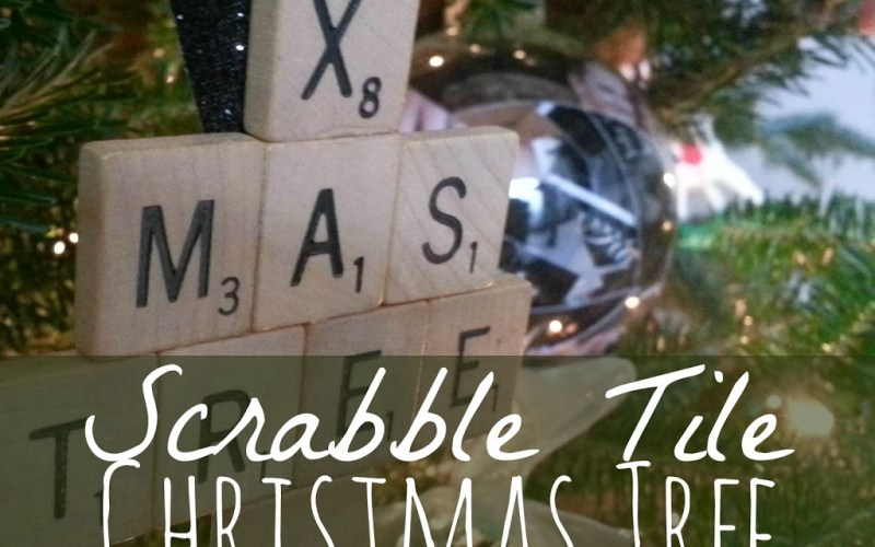 DIY Scrabble Tile Christmas Tree Ornament
