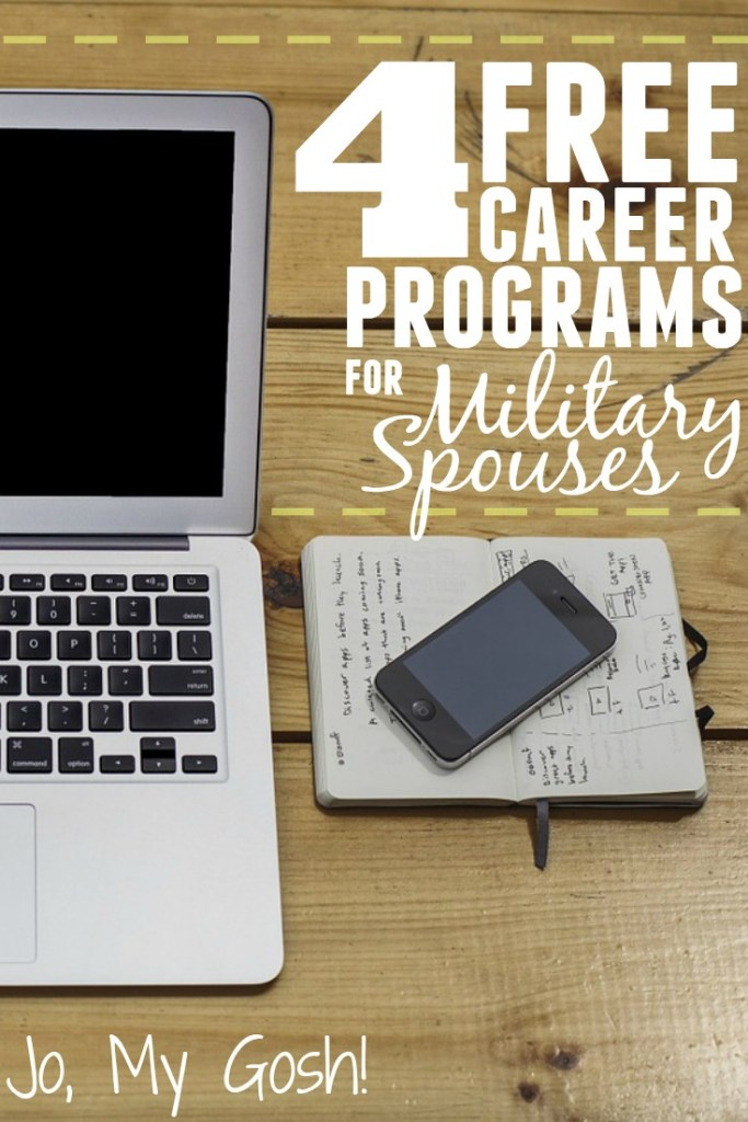 Free programs for military spouses-- from job training to the job search to career counseling.
