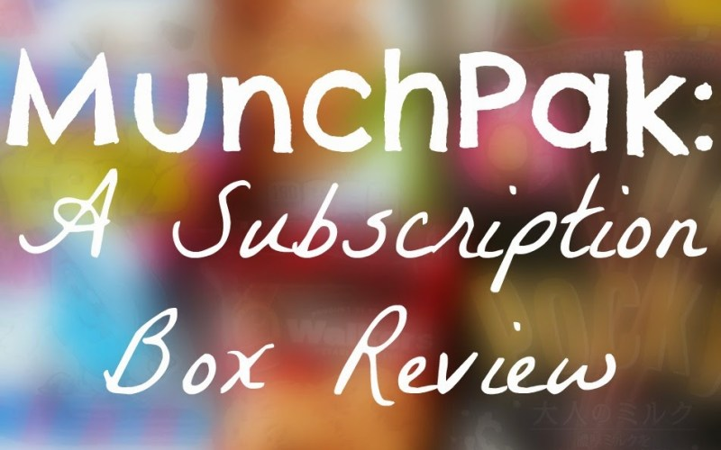 Munchpak: A Subscription Box Review