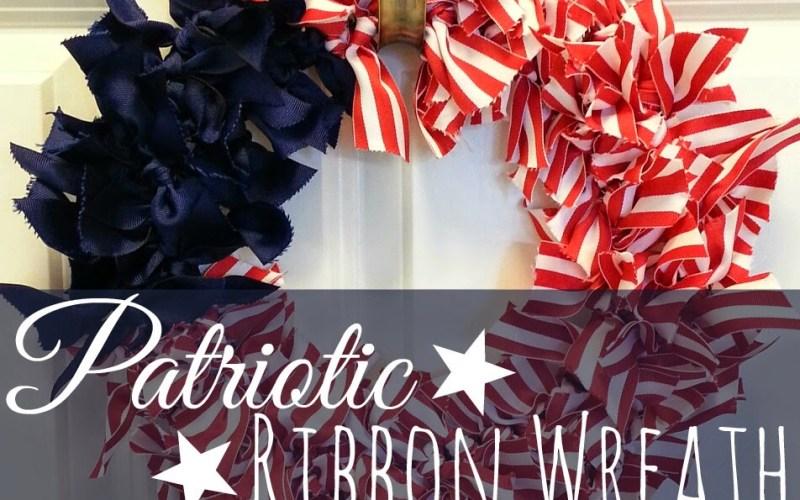 Patriotic Ribbon Wreath DIY