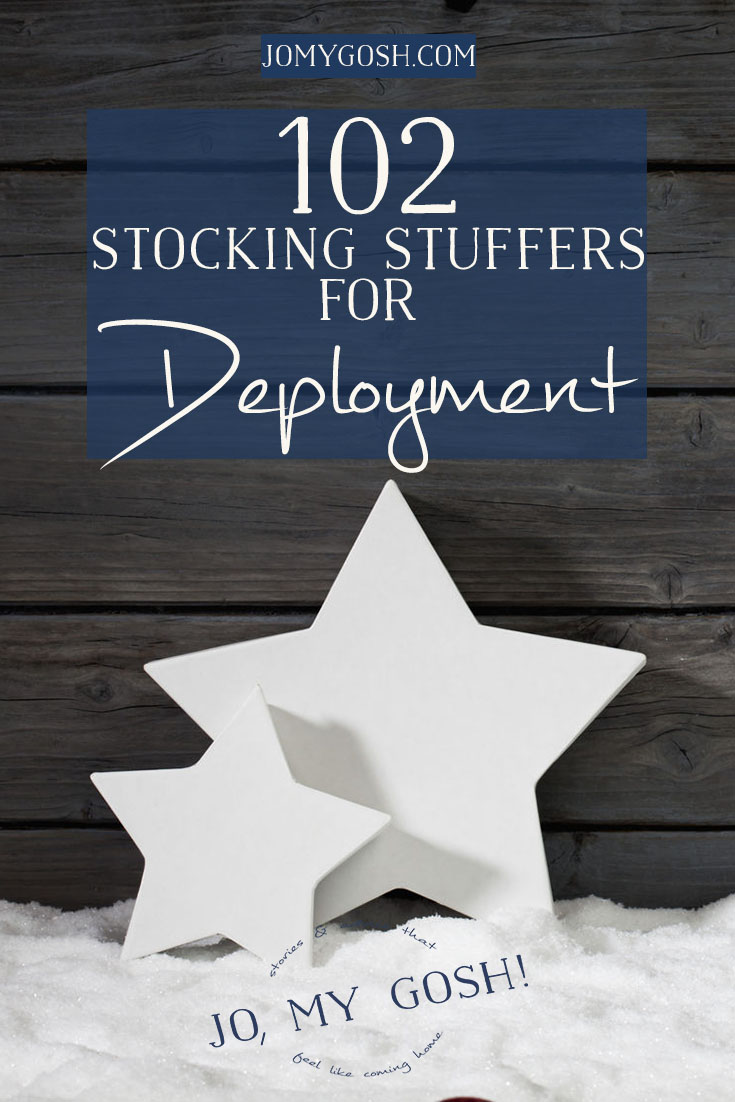 lots of stocking stuffer gift ideas perfect to send for christmas during deployment saving