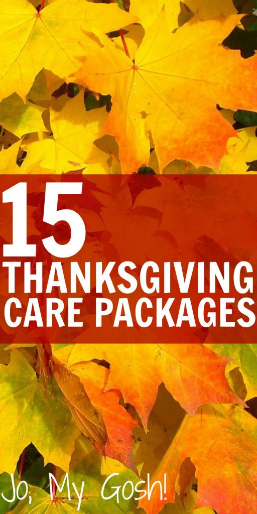 15 care packages for Thanksgiving with recipes, DIYs, and gift ideas, too! Great for milspouses, college students, and missionaries.