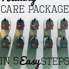 Create a healthy care package with these 5 easy steps.