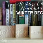 Shabby Chic Handwritten Winter Decor DIY
