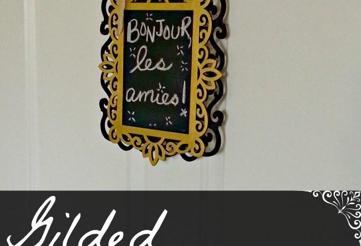 Gilded Chalkboard Wreath DIY