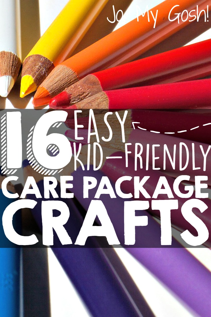 16 easy kid friendly care packages, lots of holidays included